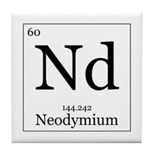 Elements - 60 Neodymium Tile Coaster