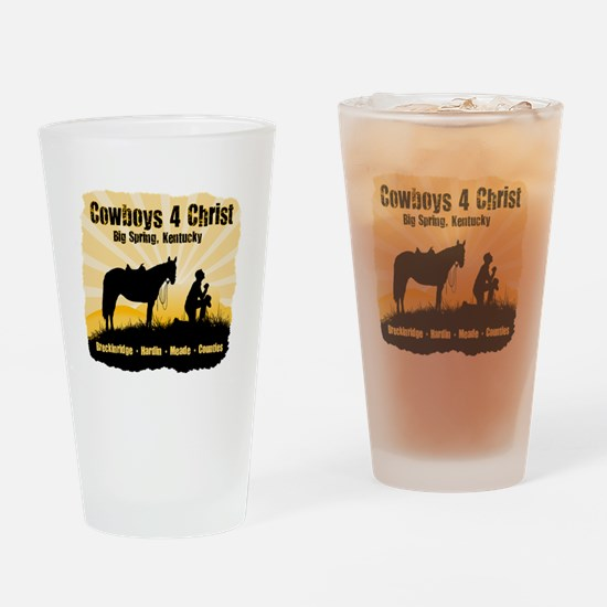 Cowboys 4 Christ Drinking Glass