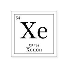 """Elements - 54 Xenon Square Sticker 3"""" x 3"""""""