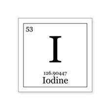 "Elements - 53 Iodine Square Sticker 3"" x 3"""