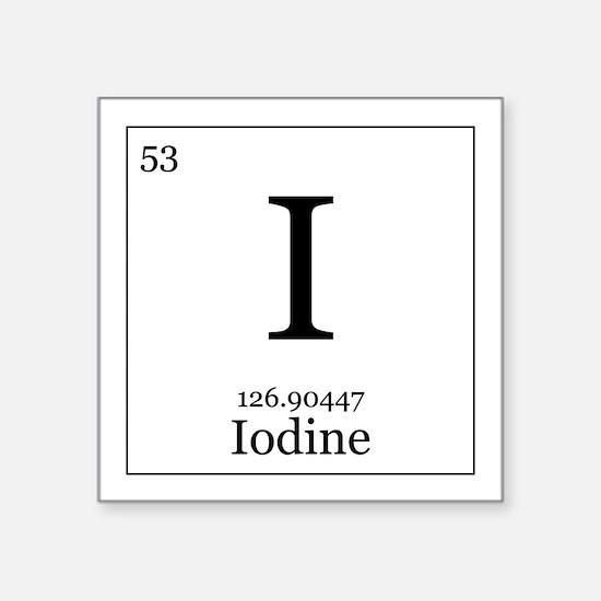 """Elements - 53 Iodine Square Sticker 3"""" x 3"""""""