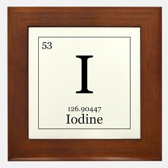 Elements - 53 Iodine Framed Tile
