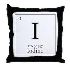 Elements - 53 Iodine Throw Pillow