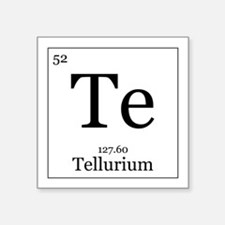 periodic table tellurium car accessories auto stickers