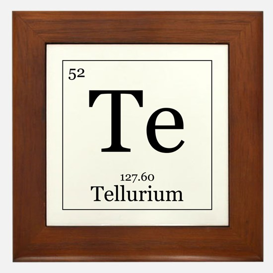 Elements - 52 Tellurium Framed Tile