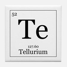 Elements - 52 Tellurium Tile Coaster