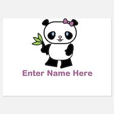 Personalized Panda 5x7 Flat Cards
