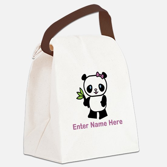 Personalized Panda Canvas Lunch Bag