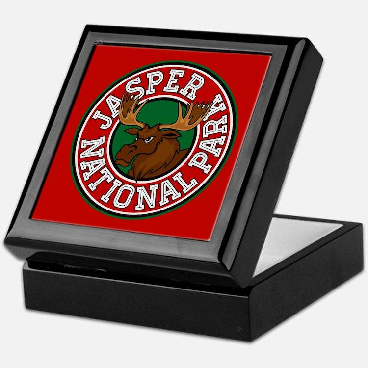 Jasper Moose Circle Keepsake Box