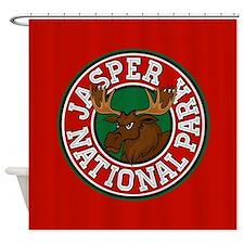 Jasper Moose Circle Shower Curtain