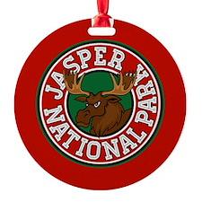 Jasper Moose Circle Ornament