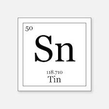 "Elements - 50 Tin Square Sticker 3"" x 3"""