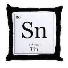 Elements - 50 Tin Throw Pillow