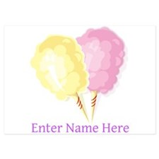 Personalized Cotton Candy 5x7 Flat Cards