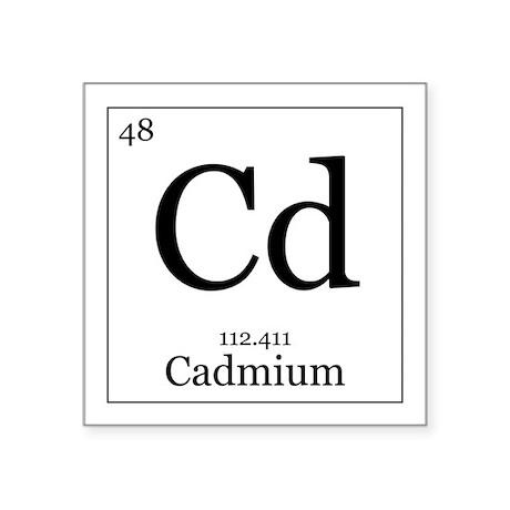 """Elements - 48 Cadmium Square Sticker 3"""" x 3"""""""