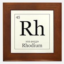 Elements - 45 Rhodium Framed Tile