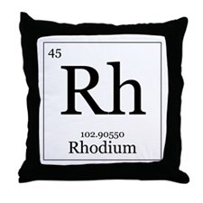 Elements - 45 Rhodium Throw Pillow