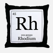 Elements - 45 Rhodium Throw Pillow