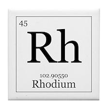 Elements - 45 Rhodium Tile Coaster