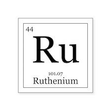 """Elements - 44 Ruthenium Square Sticker 3"""" x 3"""""""