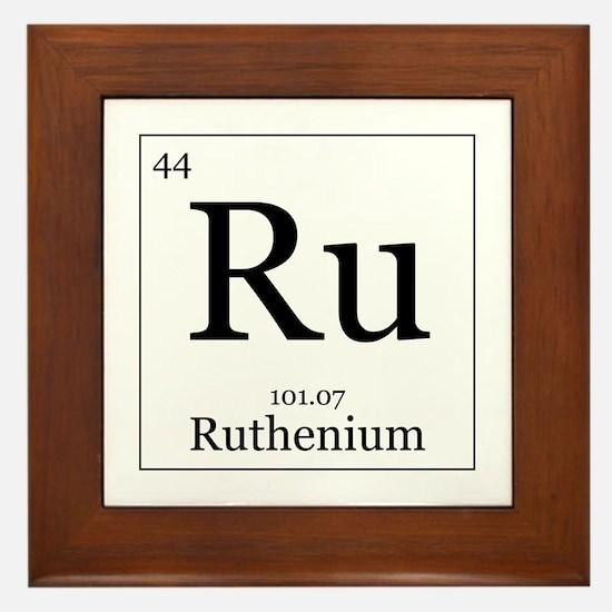 Elements - 44 Ruthenium Framed Tile