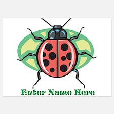 Personalized Ladybug Invitations