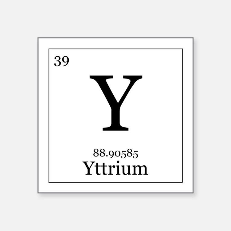 Periodic Table Yttrium Hobbies Gift Ideas | Periodic Table ...