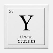 Elements - 39 Yttrium Tile Coaster