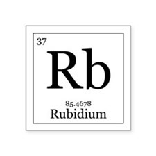 Periodic Table Rubidium Stickers | Periodic Table Rubidium ...
