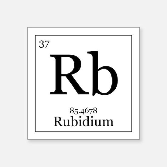 "Elements - 37 Rubidium Square Sticker 3"" x 3"""