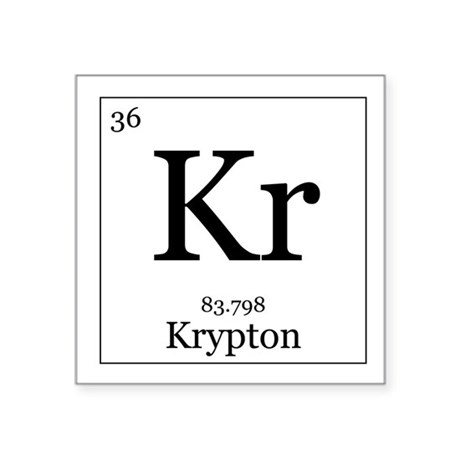 Krypton Element Periodic Table Elements - 36 Krypton Square