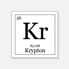 "Elements - 36 Krypton Square Sticker 3"" x 3"""