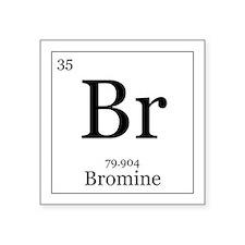 "Elements - 35 Bromine Square Sticker 3"" x 3"""