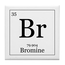 Elements - 35 Bromine Tile Coaster