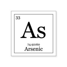 "Elements - 33 Arsenic Square Sticker 3"" x 3"""