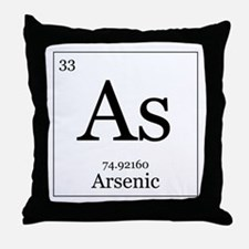 Elements - 33 Arsenic Throw Pillow