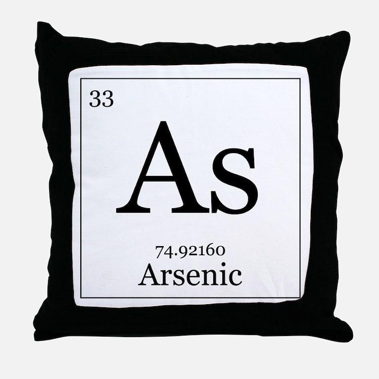 Elements - 33 Arsenic Throw Pillow