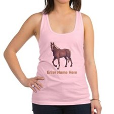 Personalized Horse Racerback Tank Top