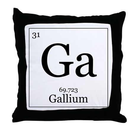 Elements - 31 Gallium Throw Pillow