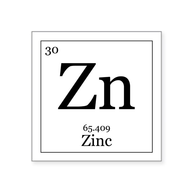 Elements 30 Zinc Square Sticker 3 Quot X 3 Quot By All The Rage