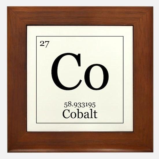 Elements - 27 Cobalt Framed Tile
