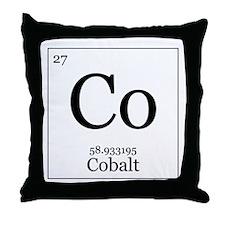 Elements - 27 Cobalt Throw Pillow