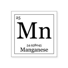 "Elements - 25 Manganese Square Sticker 3"" x 3"""