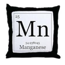 Elements - 25 Manganese Throw Pillow