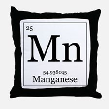 Elements - 25 Manganese Throw Pillow