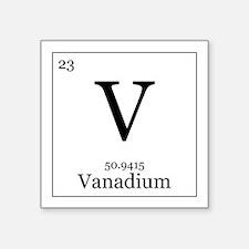 """Elements - 23 Vanadium Square Sticker 3"""" x 3"""""""