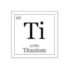 """Elements - 22 Titanium Square Sticker 3"""" x 3"""""""