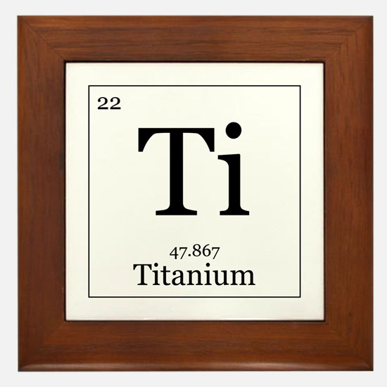 Elements - 22 Titanium Framed Tile