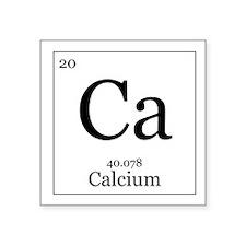 """Elements - 20 Calcium Square Sticker 3"""" x 3"""""""
