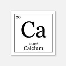"Elements - 20 Calcium Square Sticker 3"" x 3"""